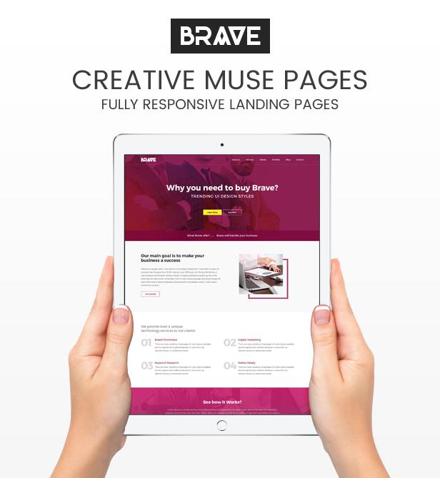 Brave - Creative Multipupose Muse Templates - 1