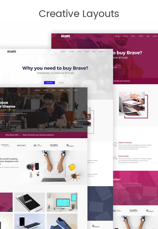 Brave - Creative Multipupose Muse Templates - 2