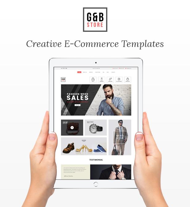 GB STORE - E-Commerce Muse Templates - 1